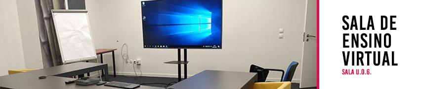 Sala de ensino virtual|Universidade Lusófona